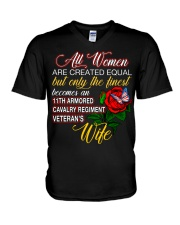 Finest Wife 11th Armored Cavalry Regiment V-Neck T-Shirt thumbnail