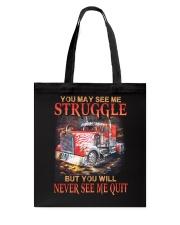 Trucker Never Quit Tote Bag thumbnail