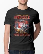 Trucker Never Quit Classic T-Shirt lifestyle-mens-crewneck-front-13