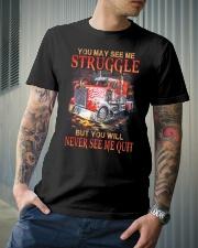 Trucker Never Quit Classic T-Shirt lifestyle-mens-crewneck-front-6