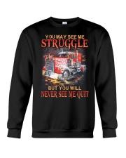 Trucker Never Quit Crewneck Sweatshirt thumbnail