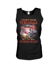 Trucker Never Quit Unisex Tank thumbnail