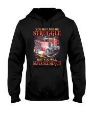 Trucker Never Quit Hooded Sweatshirt thumbnail