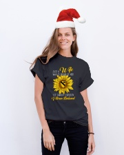 Just 1st Cavalry Vet Wife Classic T-Shirt lifestyle-holiday-crewneck-front-1
