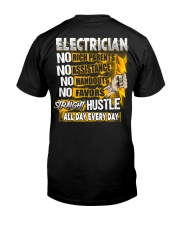 Electrician Straight Hustle Classic T-Shirt back