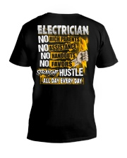 Electrician Straight Hustle V-Neck T-Shirt thumbnail