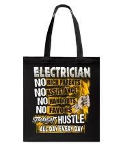Electrician Straight Hustle Tote Bag thumbnail