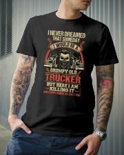 Grumpy Old Trucker Classic T-Shirt lifestyle-mens-crewneck-front-6