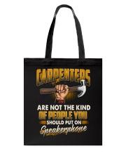 Carpenters Speakerphone Tote Bag thumbnail