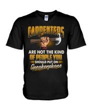Carpenters Speakerphone V-Neck T-Shirt thumbnail