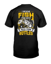 Rescue Fish And Beer Classic T-Shirt back