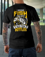 Rescue Fish And Beer Classic T-Shirt lifestyle-mens-crewneck-back-3