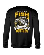 Rescue Fish And Beer Crewneck Sweatshirt thumbnail