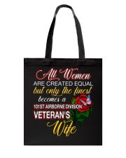 Finest Wife 101st Airborne Tote Bag front