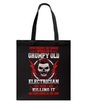Grumpy Old Electrician 2 Tote Bag thumbnail