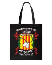 My Husband Paid For Freedom Tote Bag thumbnail