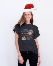 Rejoin Society Classic T-Shirt lifestyle-holiday-crewneck-front-1