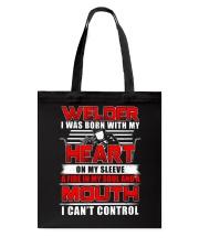 Welder Heart Tote Bag thumbnail