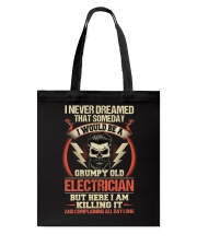 Grumpy Old Electrician Tote Bag thumbnail