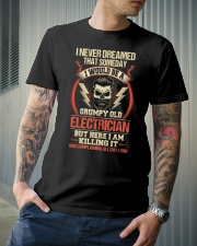 Grumpy Old Electrician Classic T-Shirt lifestyle-mens-crewneck-front-6