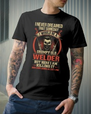 Grumpy Old Welder Classic T-Shirt lifestyle-mens-crewneck-front-6