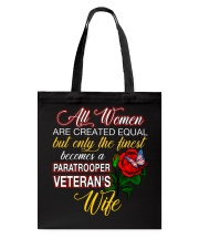 Finest Wife Paratrooper Tote Bag thumbnail