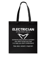 Electrician Definition Tote Bag thumbnail