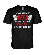Day Without Beer V-Neck T-Shirt thumbnail
