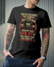 Grumpy Old Pilot Classic T-Shirt lifestyle-mens-crewneck-front-6