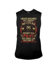 Grumpy Old Pilot Sleeveless Tee thumbnail