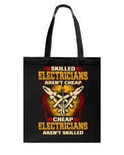 Skilled Electrician Tote Bag tile