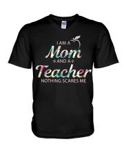 Mom Teacher V-Neck T-Shirt thumbnail