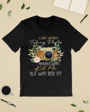 Why Risk It Classic T-Shirt lifestyle-mens-crewneck-front-19
