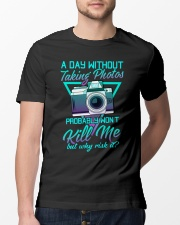 Why Risk It 3 Classic T-Shirt lifestyle-mens-crewneck-front-13