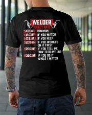 Welder Hourly Rate Classic T-Shirt lifestyle-mens-crewneck-back-3