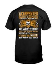 Mafia Carpenter Classic T-Shirt back