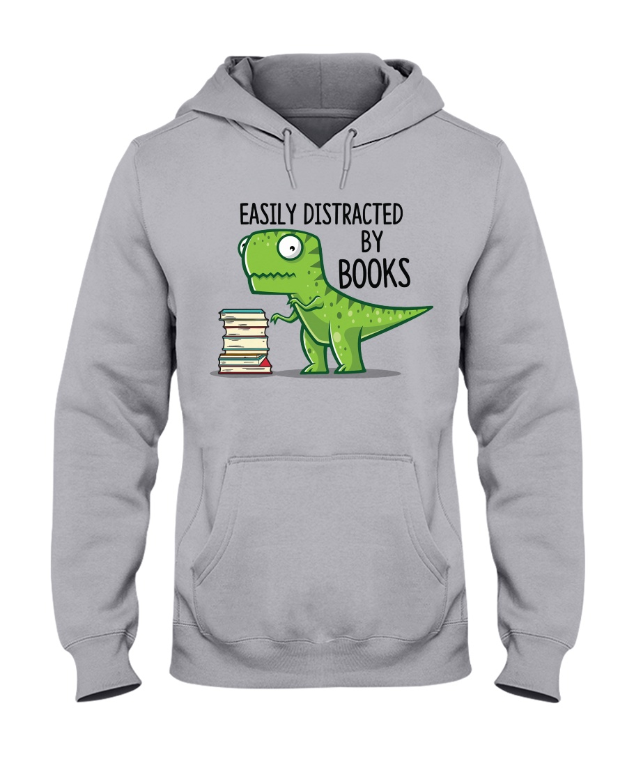 Distracted By Books Hooded Sweatshirt