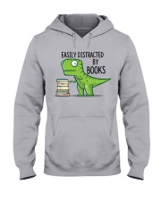 Distracted By Books Hooded Sweatshirt front
