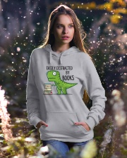 Distracted By Books Hooded Sweatshirt lifestyle-holiday-hoodie-front-5