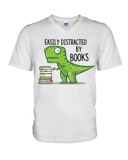 Distracted By Books V-Neck T-Shirt thumbnail