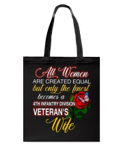 Finest Wife 4th Infantry Tote Bag thumbnail