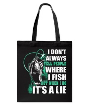 Tell A Lie Tote Bag thumbnail