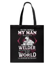Welder My World Tote Bag thumbnail