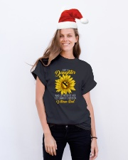 Just 1st Cavalry Vet Daughter Classic T-Shirt lifestyle-holiday-crewneck-front-1