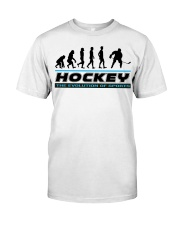 Hockey The Evolution Of  Sports Classic T-Shirt front