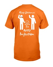 Keep Distance to avoid infection Classic T-Shirt back