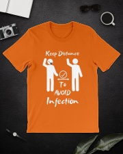 Keep Distance to avoid infection Classic T-Shirt lifestyle-mens-crewneck-front-16