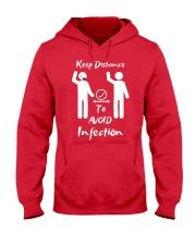 Keep Distance to avoid infection Hooded Sweatshirt thumbnail