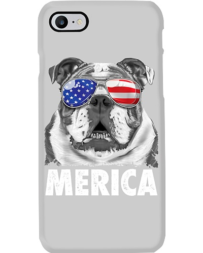 English Bulldog 4th of July Merica Men USA Flag