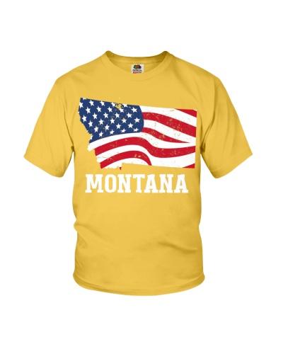 Montana 4th of July American Flag Patriotic